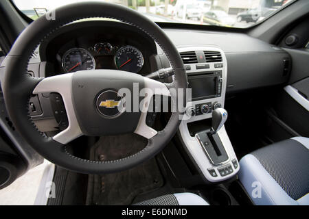 Interior of GM's Equinox SUV, 2008, Shell opened CA's first retail hydrogen car refueling station in West LA. LA, - Stock Photo