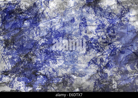 Grungy blue and grey textured wallpaper background - Stock Photo