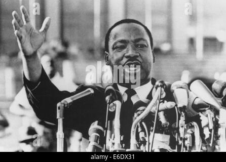 Martin Luther King, Jr., Close-Up During Speech, circa 1960's Stock Photo