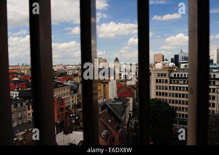 A view over Brussels from a high-rise car park - Stock Photo
