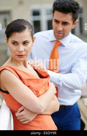 Couple consoling - Stock Photo