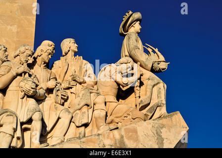 Portugal, Lisbon: Sculptures of the Discoverie´s Monument - Stock Photo