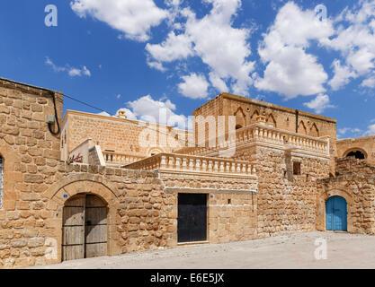 Old town of Midyat, Mardin, Tur Abdin, Southeastern Anatolia Region, Anatolia Province, Turkey - Stock Photo