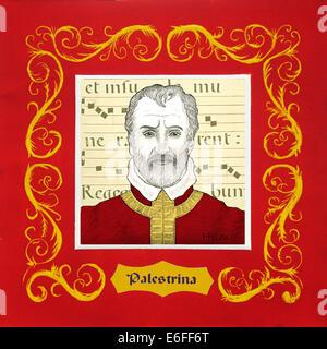 Palestrina, 1525-1594, Italian baroque composer, portrait - Stock Photo