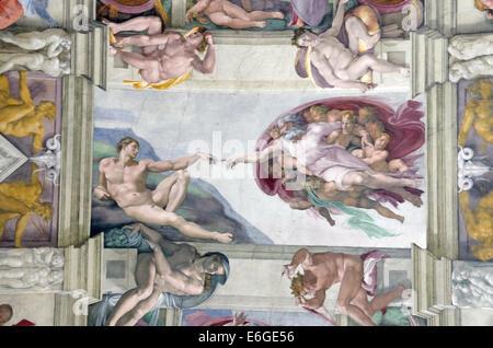 Michelangelo The Creation of Adam in the Sistine Chapel Vatican