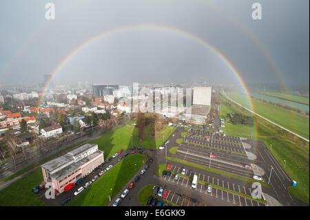 Double rainbow - Stock Photo