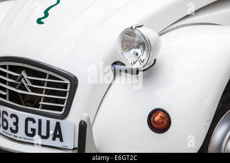 Parked Citroen 2CV6 Special - detail - Stock Photo