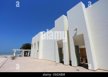 Rear entrance to the Bahrain Fort Museum, Al Qalah, Kingdom of Bahrain - Stock Photo