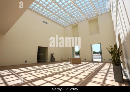 Entrance to the Bahrain Fort Museum, Al Qalah, Kingdom of Bahrain - Stock Photo