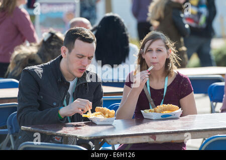 Portsmouth, Hampshire, UK. 23rd August, 2014. Victorious Festival - Saturday, Southsea, Hampshire, England. Fish - Stock Photo