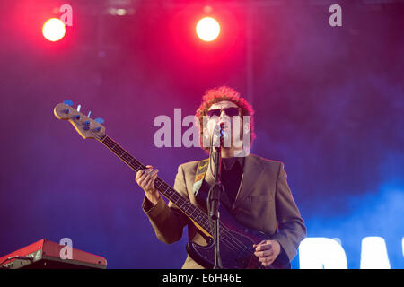 Portsmouth, Hampshire, UK. 23rd August, 2014. Victorious Festival - Saturday, Southsea, Hampshire, England. Razorlight - Stock Photo
