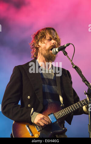 Portsmouth, Hampshire, UK. 23rd August, 2014. Victorious Festival - Saturday, Southsea, Hampshire, England.  Johnny - Stock Photo