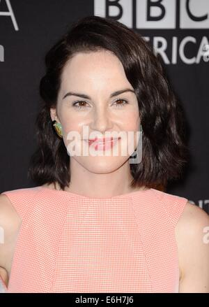 Los Angeles, CA, USA. 23rd Aug, 2014. Michelle Dockery at arrivals for BAFTA Los Angeles TV Tea, SLS Hotel at Beverly - Stock Photo