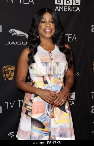 Los Angeles, CA, USA. 23rd Aug, 2014. Niecy Nash at arrivals for BAFTA Los Angeles TV Tea, SLS Hotel at Beverly - Stock Photo