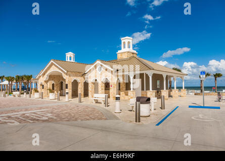 Modern upscale public restroom and shower facilities on the beach at Daytona Beach Florida
