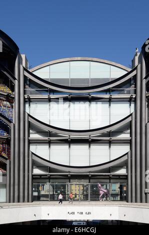 Entrance Facade of the Museum of Modern Art MAMAC or Musée d'Art Moderne et d'Art Contemporaine Nice Alpes-Maritimes - Stock Photo