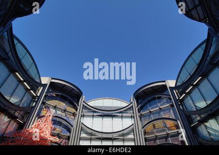 Museum of Modern Art MAMAC or Musée d'Art Moderne et d'Art Contemporaine Nice Alpes-Maritimes France - Stock Photo