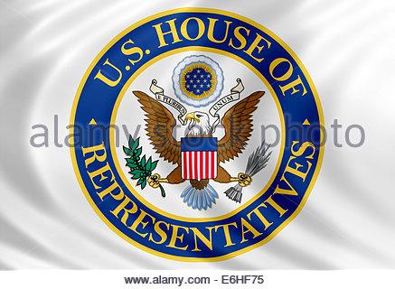 United States Representatives logo icon isolated flag banner - Stock Photo