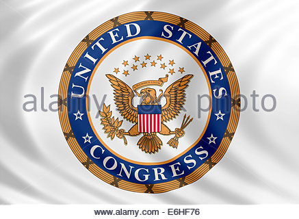 United States Congress logo icon isolated flag banner - Stock Photo