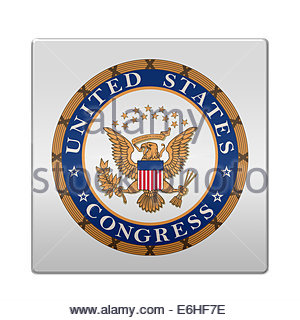 United States Congress logo icon isolated app button - Stock Photo