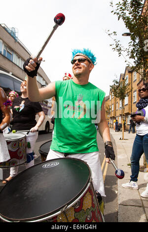 Notting Hill Carnival 2014, Notting Hill, West London, London, UK 24th August 2014 Family Day at the Carnival 2014 - Stock Photo