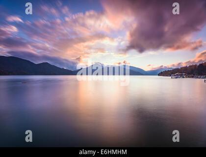 Lake Chuzenji in Nikko, Japan.