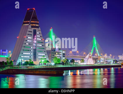 Skyline of Aomori, Japan. - Stock Photo