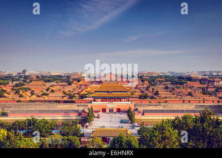 Beijing, China at the Imperial City north gate. - Stock Photo