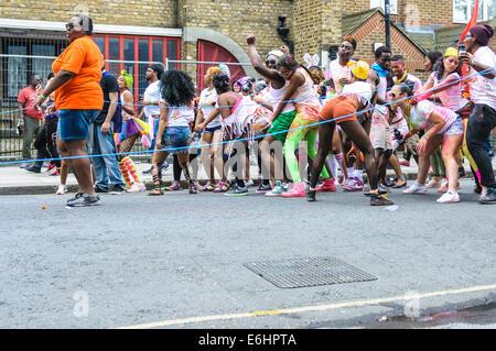 Notting Hill Carnival 2014, Children's day on Sunday - Stock Photo