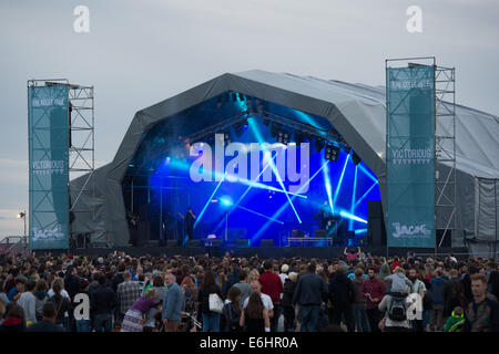 Southsea, UK, 24th Aug, 2014. Victorious Festival - Sunday, Southsea, Hampshire, England. Credit:  MeonStock/Alamy - Stock Photo