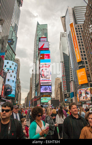 The famous Time Square in Manhattan, New York City - Stock Photo