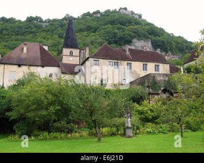 Baume les Messieurs is considered one of the most beautiful villages in France. Jura region - Stock Photo