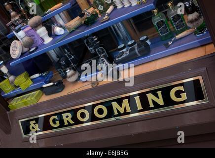 Geo. F. Trumper Gentleman's barbers and perfumers shop, Duke of York St, Mayfair, London, England UK - Stock Photo