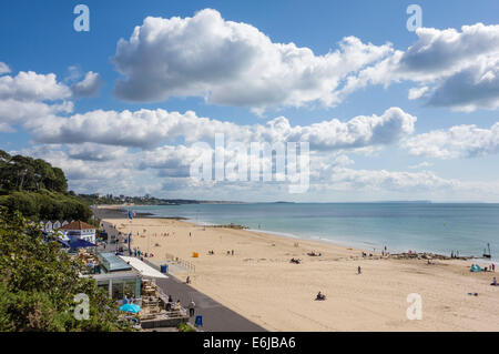 Branksome Beach and Poole Bay, Dorset, England, UK - Stock Photo