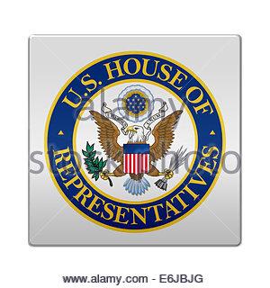 United States Representatives logo icon isolated app button - Stock Photo