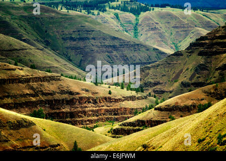 Grand Ronde Wild and Scenic River and canyon. Oregon - Stock Photo
