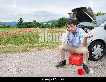 Man needs help for accident - Stock Photo