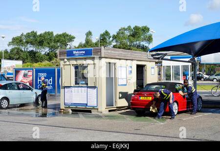 car wash tesco supermarket uk stock photo royalty free. Black Bedroom Furniture Sets. Home Design Ideas