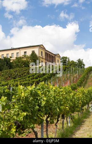 Villa Ludwigshöhe near Edenkoben, Rhineland-Palatinate, Germany - Stock Photo