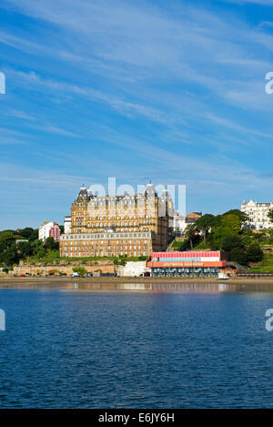 The Grand Hotel, Scarborough, North Yorkshire, England UK - Stock Photo