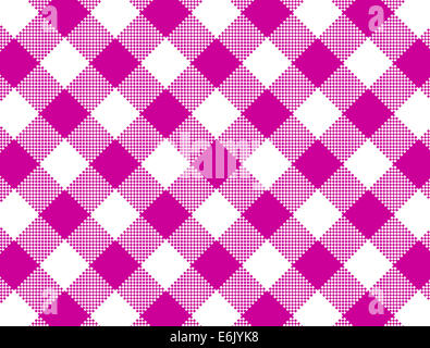 Jpg.  Woven pink and white gingham fabric.  One image of a large series containing flowers, stripes & polka dots. - Stock Photo