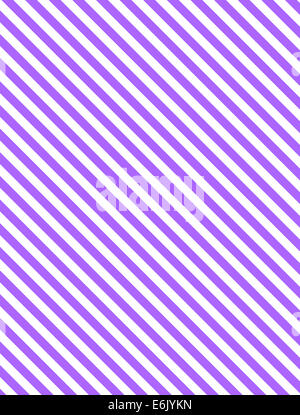 Seamless, continuous, diagonal striped background in purple or lavender and white. - Stock Photo
