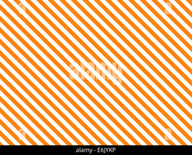 Seamless, continuous, diagonal striped background in orange and white. - Stock Photo
