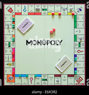 Monopoly, the original UK version of the popular property trading board game. - Stock Photo