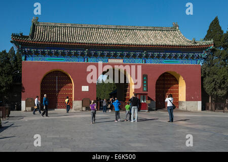 Entrance gate to the Temple of Heaven, Beijing, China - Stock Photo