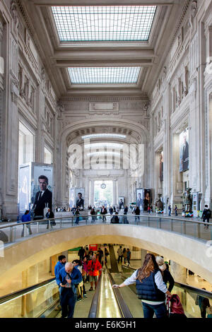 Central railway station, Stazione Centrale, Milan, Lombardy, Italy - Stock Photo
