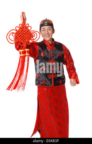 ... Young man dressed in Chinese traditional clothes holding Chinese knot - Stock Photo  sc 1 st  Alamy & Man dressed in traditional clothes Pichilemu Chile Stock Photo ...