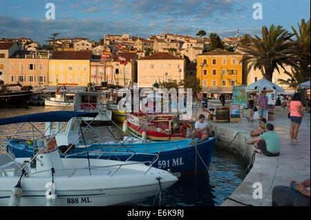 Boats in the Harbour,Mali Losinj, Losinj Island, Croatia - Stock Photo