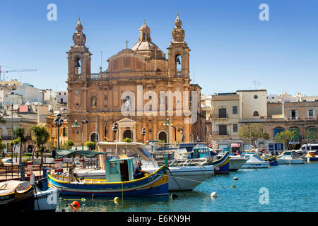 Church of Sultana tal-paci, St Joseph's, Msida Creek, Valletta, Malta - Stock Photo