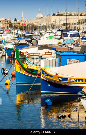 Msida Creek, Valletta, Malta - Stock Photo